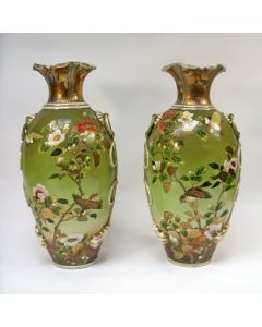 Stel grote Satsuma vazen, ca. 1900