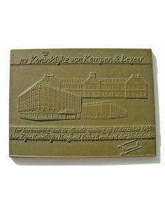 Plaquettepenning, opening gebouw Van Kempen & Begeer, Zoetermeer, 1985