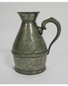 Ierse tinnen whiskeymaat, ca. 1830
