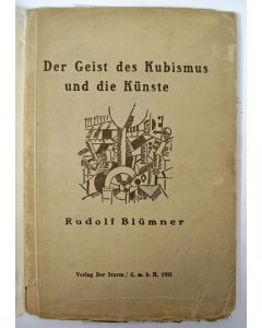 Rudolf Blümner, Der Geist des Kubismus und die Künste. 1921