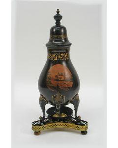 Gelakte tinnen kraantjeskan, Berend Amsing Groningen, 19e eeuw