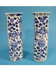 Stel Chinese porseleinen vazen, 19e eeuw