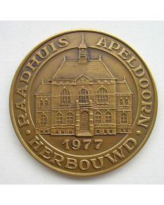 Penning, herbouw raadhuis Apeldoorn, 1977