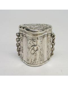 Zilveren lodereindoosje, 18e eeuw