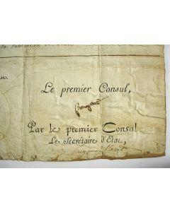 Document, ondertekend door Napoleon Bonaparte, 1801