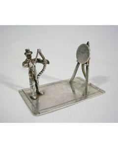 Miniatuur zilveren boogschieter