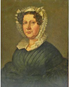 Hollandse School, portret van Johanna Vonck-van der Stok, ca. 1839