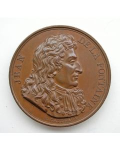 [Frankrijk] penning Jean de la Fontaine, 1816