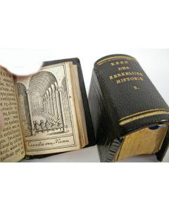 Miniatuur boekjes met leren bandjes, Kerkelijke Historie, 1755