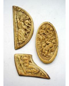 Benen snijwerk van boekbeslag, 17e eeuw