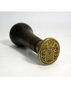 Lakstempel met familiewapen Van Diest, ca. 1800