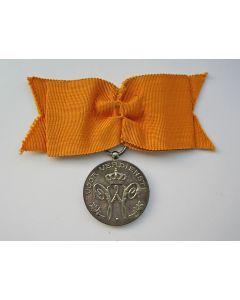 Huisorde van Oranje, Eremedaille van verdienste in zilver