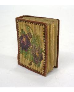 Miniatuur fotoalbum met marquetterie de paille, 1872