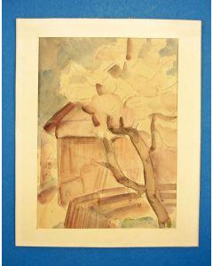 Paul Determeijer, 'Winterswijk', aquarel, ca. 1920/30