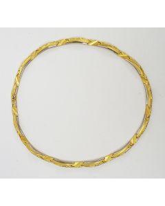 Gouden collier. 'Narda',  ontwerp Björn Weckström voor Lapponia, 2004