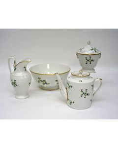 Porseleinen theeservies met korenbloemdecor, Nast, Parijs, Empire periode, ca. 1800/1810