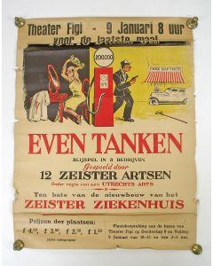 Affiche van een toneelstuk, opgevoerd door 12 Zeister artsen, 1948