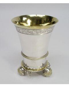Zilveren sierbeker in Renaissance stijl