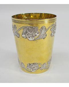 Deels vergulde zilveren beker, Antonio Firma da Costa, Lissabon ca. 1810/20
