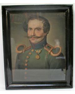 Theodoor Bohres, portret van een Pruissische officier, 1829