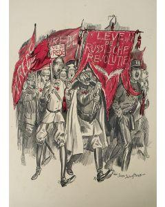 Jan Sluijters, karikatuur van de Duitse Keizer en de kroonprins, litho, ca. 1917