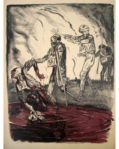 Jan Sluijters, Politieke voorstelling Eerste Wereldoorlog, litho, ca. 1918