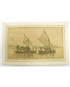 Dirk Homberg, Javaanse vissersboten, ets
