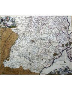 Handgekleurde kaart van de Provincie Utrecht, uitgave Frederik de Wit, ca. 1690