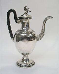 Zilveren koffiekan, Luik, ca,. 1820