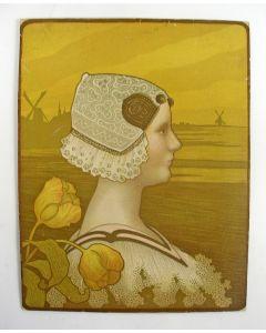 Paul Berthon, Koningin Wilhelmina, litho, 1901