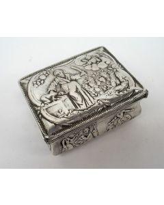 Zilveren snuifdoos met Abrahams offer, Pieter le Loup, Schoonhoven, 1792