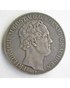 Saksen. Doppeltaler 1854 F, Friedrich August König von Sachsen