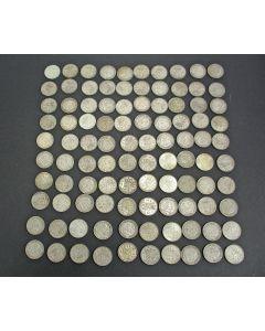 100 zilveren guldens, Koningin Juliana, 1954-1967