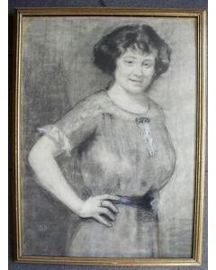 Bart Peizel, portret van de beeldhouwster Louise Beijerman