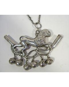 Zilveren rammelaar / rinkelbel, Friesland, 18e eeuw