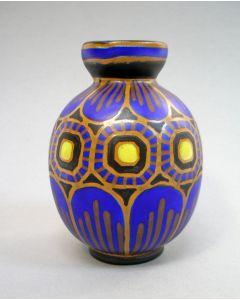 Aardewerk vaas, ontwerp Charles Catteau voor Boch Frères Keramis , ca. 1930