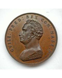 Penning op het overlijden van Koning Willem I te Berlijn, 1843.
