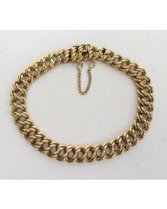 Gouden gourmette schakelarmband