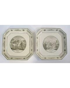 Faience schotels met historische voorstellingen, Creil, ca. 1820