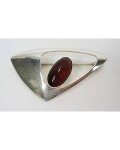 Modernistische zilveren broche, Niels Erik From, Denemarken ca. 1960