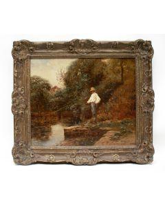 Louis F. Schützenberg, 'Een vissertje', 1885