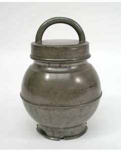 Tinnen bouillonpot, Frankrijk ca. 1900