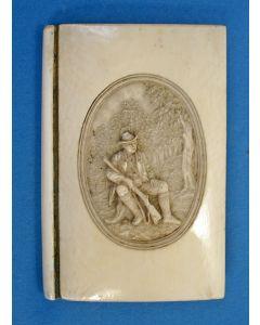 Notitieboekhouder in ivoren band, 19e eeuw