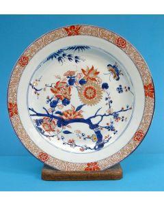 Chinees Imari schotel, 18e eeuw