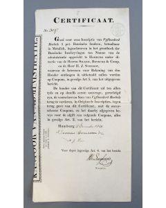 Obligatie van 500 Roebel. Certificaat van 5 % Russische Fondsen, betaalbaar in metaliek, 1820