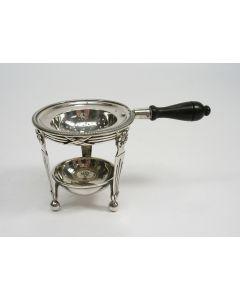 Zilveren theezeef op lekbakje, ca. 1920