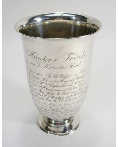 Zilveren prijsbeker 'Hunters Trials van de Hubertus Hunt', 1935-1961 [Paardensport]