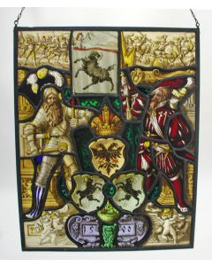 Glas in loodraam, gedateerd 1590