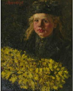 André Broedelet, Meisje met bloemen.