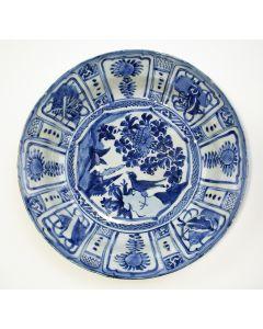 Kraakporseleinen schotel, Wanli periode, ca. 1600